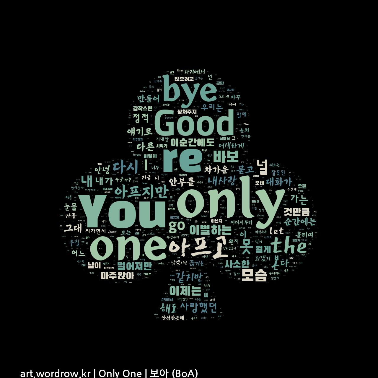 워드 클라우드: Only One [보아 (BoA)]-17